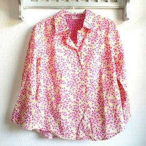 J. Crew 3/4 Sleeve Button Up Blouse